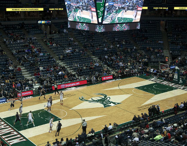 BMO Harris Bradley Center Milwaukee Buck's Home Court