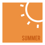 summer graphic with sun