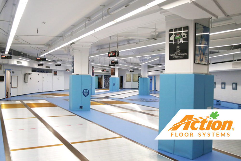 fencing gym court by action floors