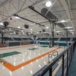 gymnasium floor with hardwood Hart County