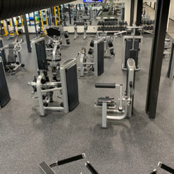 fitness center with nonslip durable flooring